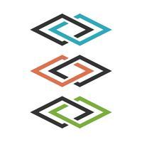 Connected Diamond Line Logo Template Illustration Design. Vector EPS 10.