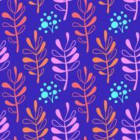 Botaniskt handritat mönster