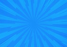 Fondo cómico abstracto azul de la luz del sol de la historieta. Diseño de ilustración vectorial