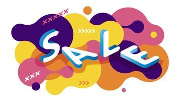 Vektor abstrakt isometrisk försäljning banner