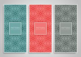 Dekorative Muster Banner gesetzt