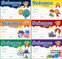 All grade science diploma sjabloon
