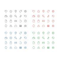 Einfaches Ikonen-gesetztes Vektor-Schablonen-Illustrations-Design. Vektor EPS 10.