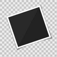 Cornice per foto modello vettoriale. isolare su sfondo trasparente.