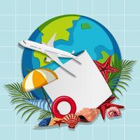 A summer trip banner vector