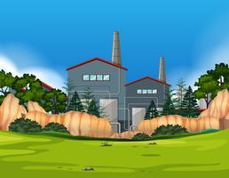 Fabriek in aardlandschap