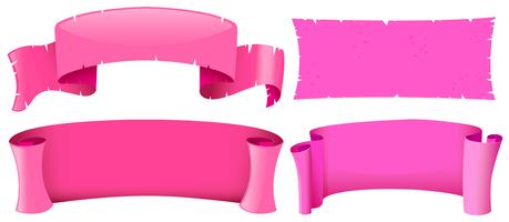 Pink banner templates in four designs