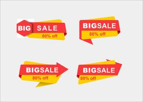 Minimal creative shopping vector promotion ribbons