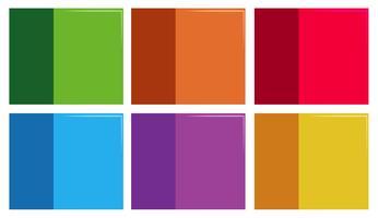 Set di modello colorato