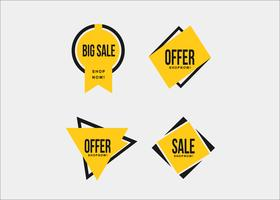 Colorful minimal yellow shopping promotion ribbons
