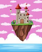 Fatasy castle obove ocean