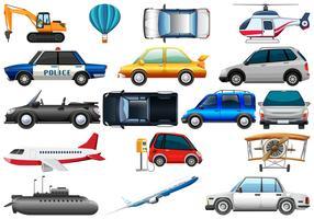 Set van verschillende transport