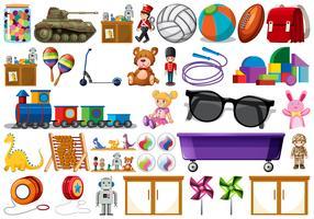 Set de juguetes para niños.