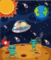 Crianças viajam no espaço