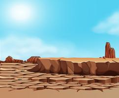 Drought cracked desert landscape