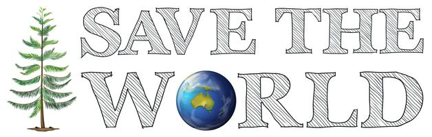 Save the world icon vector