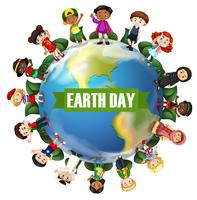 Een internationaal earthday-pictogram