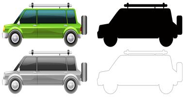 Set of different style car