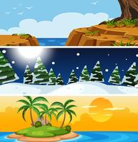 Set of nature different season