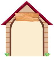 Een huis notitie sjabloon