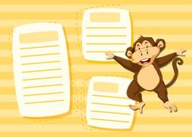 Mokey på noteringsmall