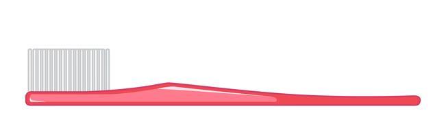 Escova de dentes isolada no fundo branco