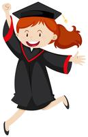 Happy woman in graduation gown