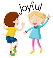 Vocabulaire anglais mot joyeux