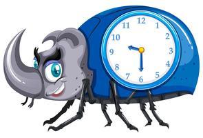 A beetle clock template