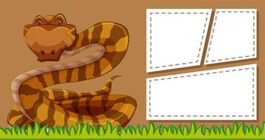 Fondo de marco de serpiente marrón vector