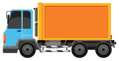 blauwe en oranje vrachtwagen geïsoleerd