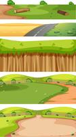 uppsättning natur landskap