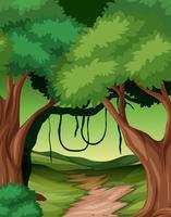 Woods natur bakgrund scen