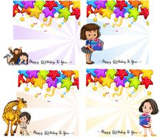 Set of birthday card