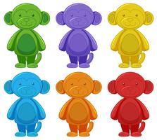Set of monkey cartoon