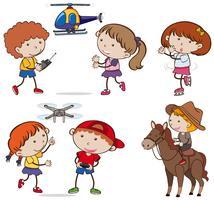 A Set of Kids doing Activities vector