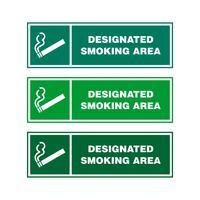 Het roken Gebiedssignage Vectorillustratieontwerp. Vector EPS 10.