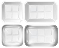 Set of foam tray package