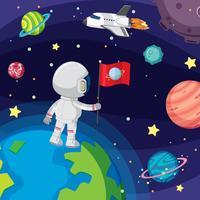 Astronauta flotando en el espacio