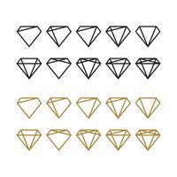 Diamond Shape Logo Template Illustration Design. Vecteur EPS 10.