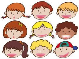 Expression faciale des garçons et des filles