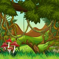 Natural jungle background scene