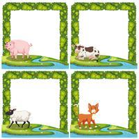 Conjunto de animales en marco