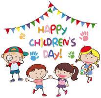 concepto del día de los niños felices vector