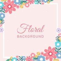 Fondo disegnato a mano del confine dell'invito del fiore - illustrazione di vettore
