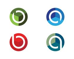 P Logo circle illustration Icon Vector Template
