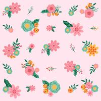 Hand drawn Flower Seamless Pattern - Vector Illustration
