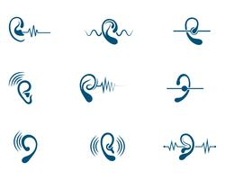 Hearing Logo Template vector icon