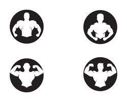 Vectorobject en pictogrammen voor Sportlabel, Gym Badge, Fitness Logo Design