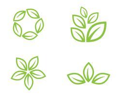 green leaf ecology nature element vector